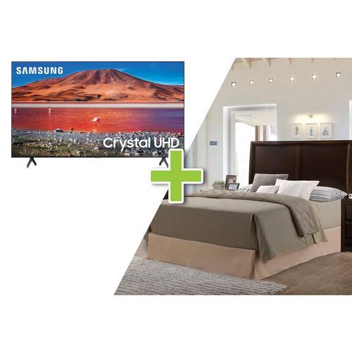 """5-Piece Franklin Queen Bedroom w/ Samsung 50"""" Class 4K UHD Smart TV"""