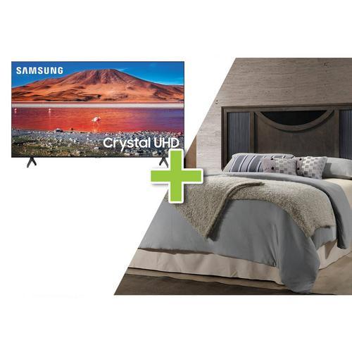 """4-Piece Seneca Queen Bedroom w/ Samsung 50"""" Class 4K UHD Smart TV"""