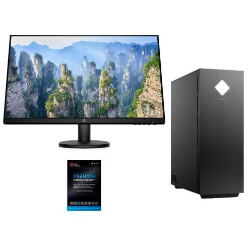 "Omen Gaming Desktop with Ryzen™ 5 CPU, RX5500 Graphics, 27"" Monitor & Total Defense Security"