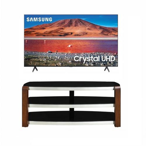 "50"" Class 4K UHD Smart TV & 54"" TV Stand Bundle"