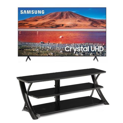 "65"" Class 4K UHD Smart TV & 65"" TV Stand Bundle"