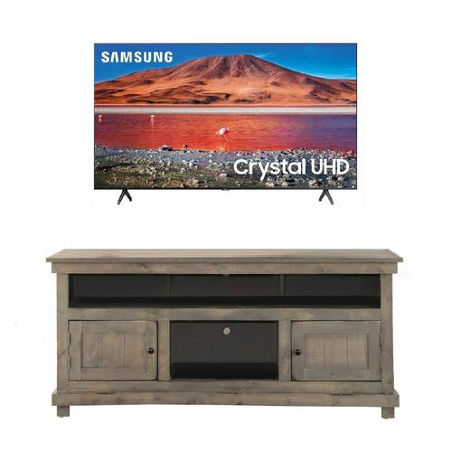 "50"" Class 4K UHD Smart TV & 60"" Gray TV Console Bundle"