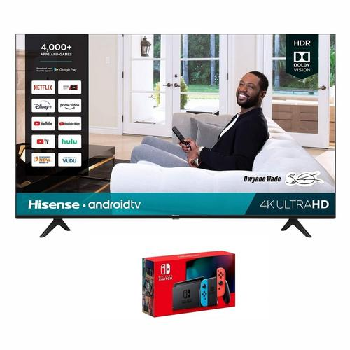 "65"" Class 4K UHD Smart TV & Nintendo Switch Bundle"