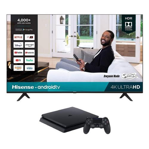 "65"" Class 4K UHD Smart TV & Playstation 4 with 2 Bonus Games Bundle"