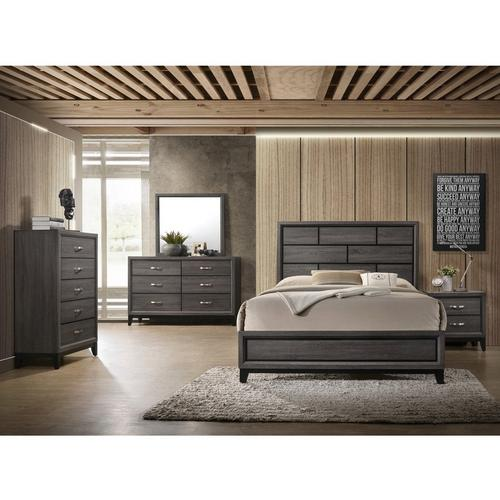7-Piece Akerson King Bedroom Set - Grey