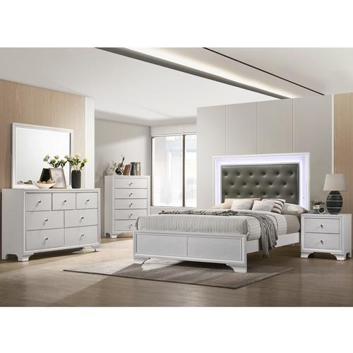 7-Piece Lyssa Queen Bedroom Set - Frost