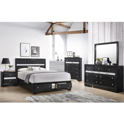 7-Piece Regata Queen Bedroom Set - Black