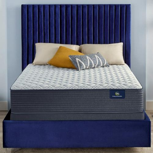 """12"""" Serene Sky Tight Top Firm King Mattress w/ Foundation & Protectors"""