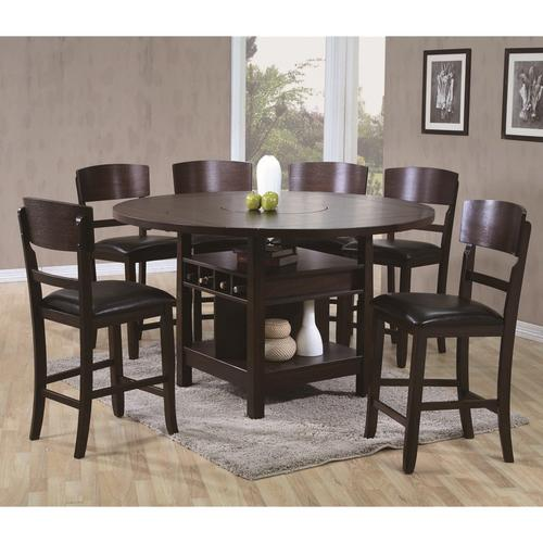 7-Piece Conner Counter Height Dining Brown
