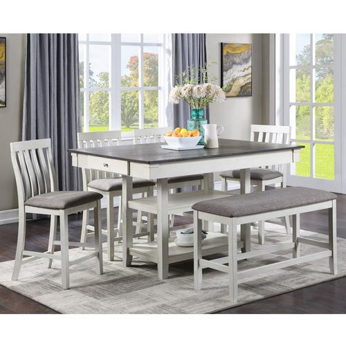 6-Piece Nina Counter Height Dining Chalk Grey