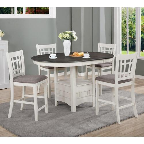 5-Piece Hartwell Counter Height Dining Chalk Grey