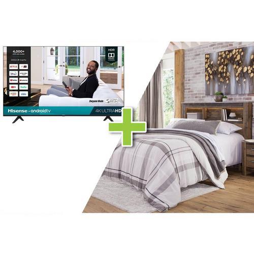"4-Piece Chadbrook Queen Bedroom Set w/ Hisense 43"" Class 4K UHD Smart TV"