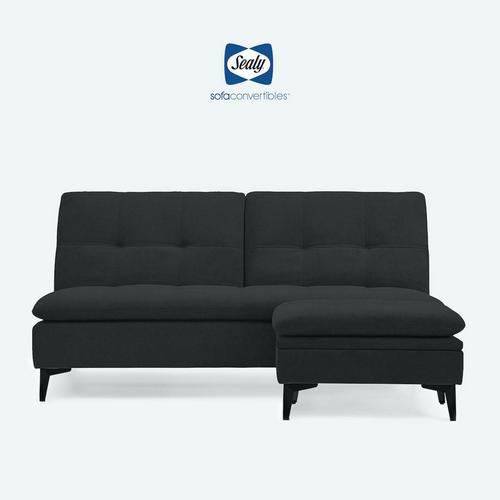 2 - Piece Sedona Sofa Convertible w/ Ottoman - Black