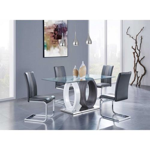 5 - Piece Dining Table w/ Chairs -  Grey