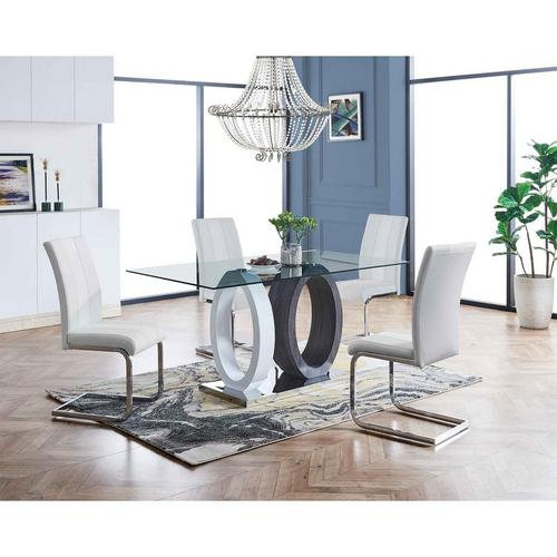 5 - Piece Dining Table w/ Chairs - White