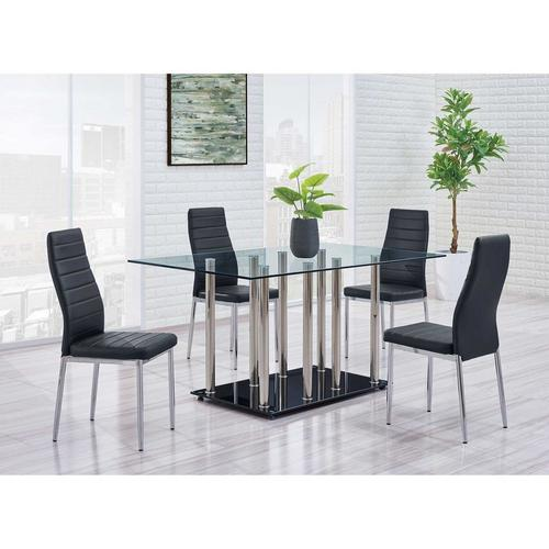 5 - Piece Rectangular Dining Table w/ Chairs - Black