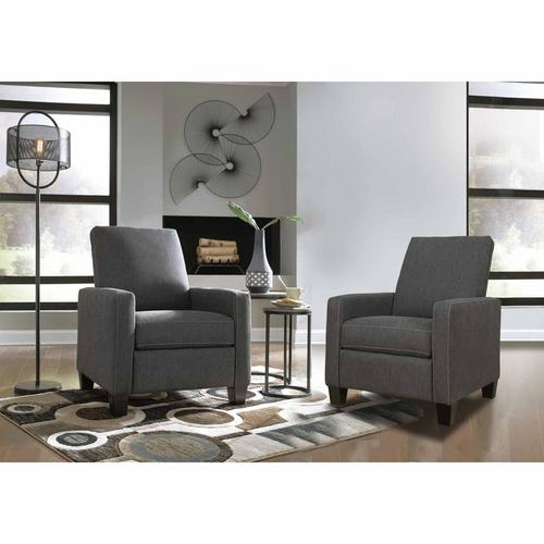 Two Dattner Low Leg Recliners - Charcoal
