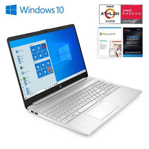 "15"" Laptop 4 GB Athlon Silver w/ Total Defense Internet Security v11 & Microsoft 365- Personal Edition"