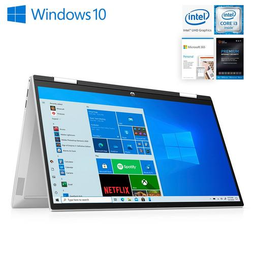 """15"""" X360 Laptop I3 w/  Total Defense Internet Security v11 & Microsoft 365- Personal Edition"""