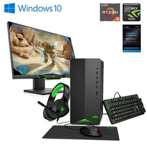 "Gaming Desktop GTX1650 & 25"" Gaming Monitor AMD w/ Total Defense Internet Security v11"