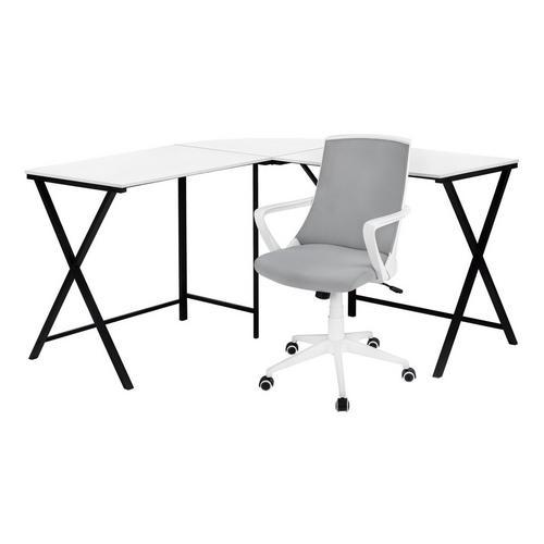 "55"" L - Shaped Desk w/ Office Chair"