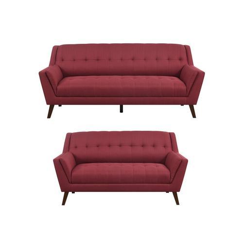 2 - Piece Binetti Sofa & Loveseat - Brick Red