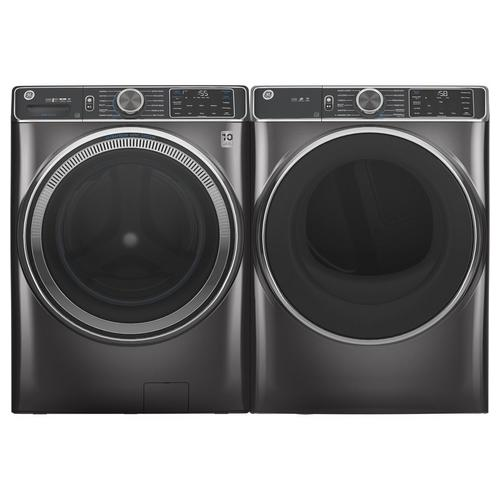 5.0 Cu. Ft. Front Load Steam Electric Washer & 7.4 Cu. Ft. Steam Gas Dryer