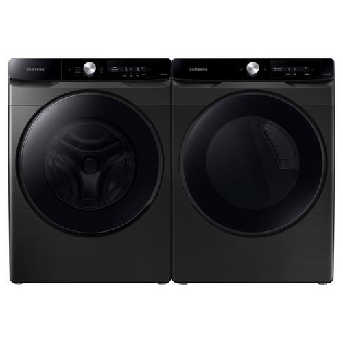 4.5 Cu. Ft. Front Load Washer & 7.5 Cu. Ft. Gas Dryer - Brushed Black