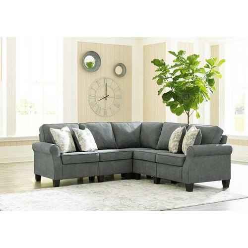 4 - Piece Alessio Sectional - Charcoal