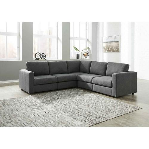 5 - Piece Candela Sectional - Charcoal