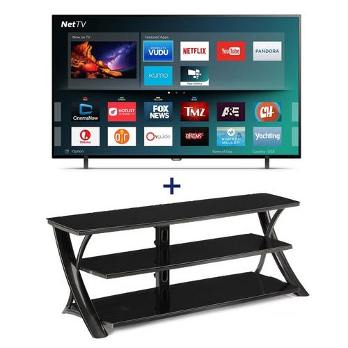"65"" Class Smart 4K UHD TV & 65"" TV Console Bundle"