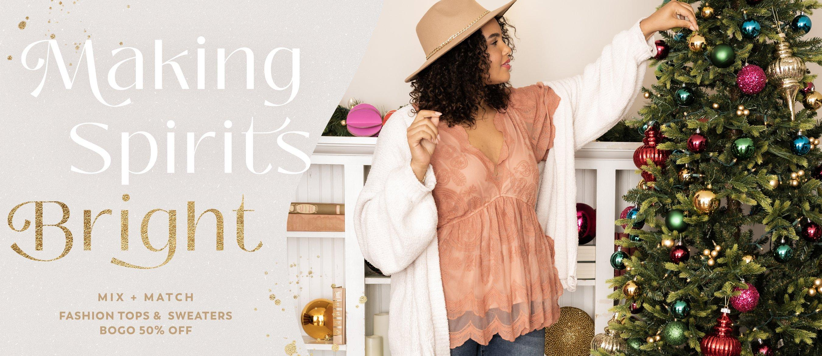 Shop Fashion Tops and Sweaters
