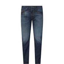 1000097615: D-Strukt Mid Rise Tapered Leg Jeans