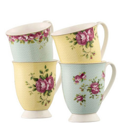 149561501: Archive Rose 4 Mugs Set