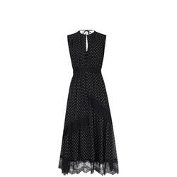 1000344344: Spot Lace Midi Dress