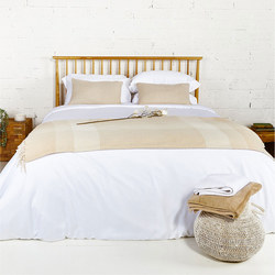 1000385094SET: Bamboo Bed Linen Coordinated Bedding White