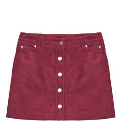 142823918: Cord Button Front Skirt