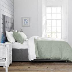 146323814B: Port William 300 Thread Count Duvet Set Green