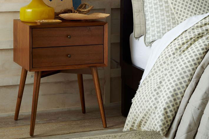 Picture of: West Elm Mid Century Bedside Table Acorn Arnotts