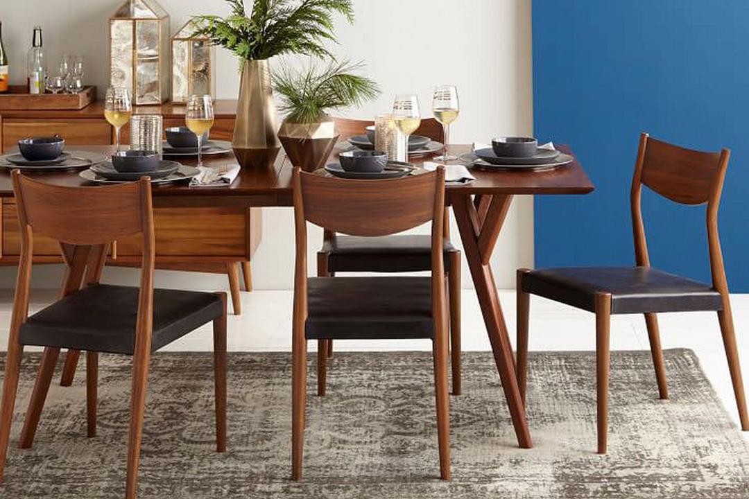 West Elm Mid Century Expandable Dining Table 152 Cm 203 Cm Walnut Brown Arnotts