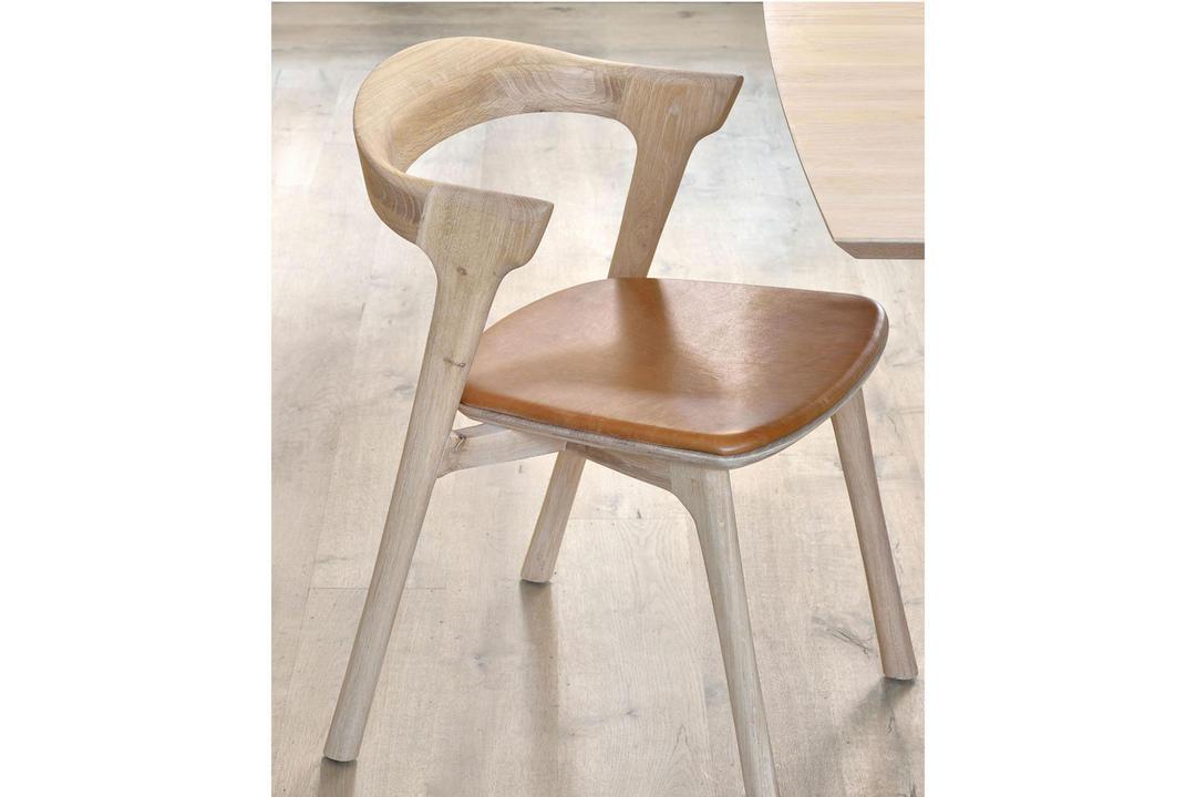 Ethnicraft Bok Dining Chair Oak Cognac Leather 51488 Arnotts