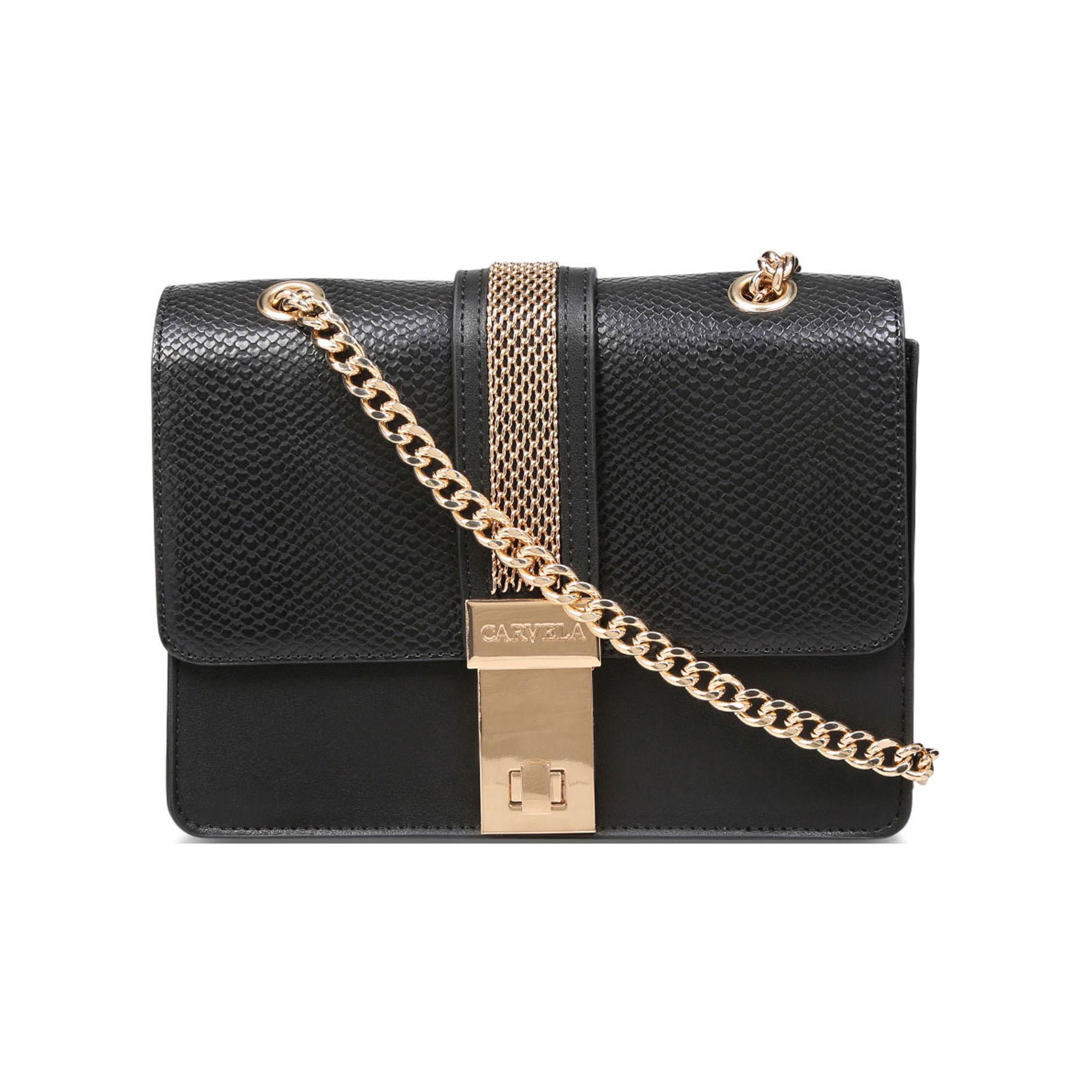 60002436600979BLACK: Casey Chain Cross Body Bag