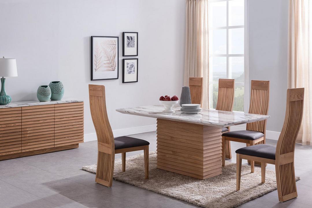Alfrank Byblos Rectangular Dining Table White Cararra Marble Ash Byb6231 Arnotts