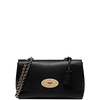 Lily Glossy Small Goat Bag