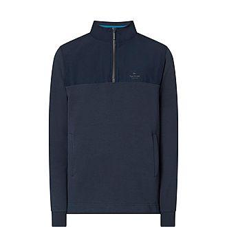 Cletus Half-Zip Cotton Sweatshirt