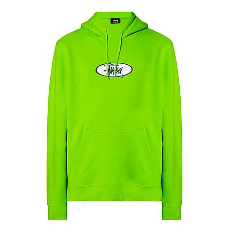 Two Bar Embroidered Logo Hoodie, ${color}