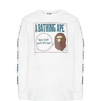 Boombox Tag Cotton Sweatshirt