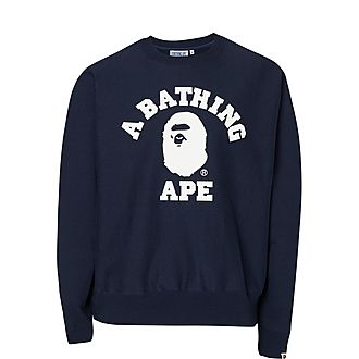 Logo Print Crew Sweatshirt