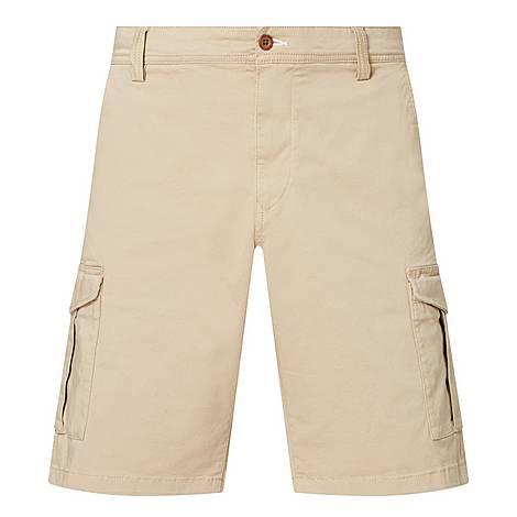 Cotton-Blend Cargo Shorts, ${color}