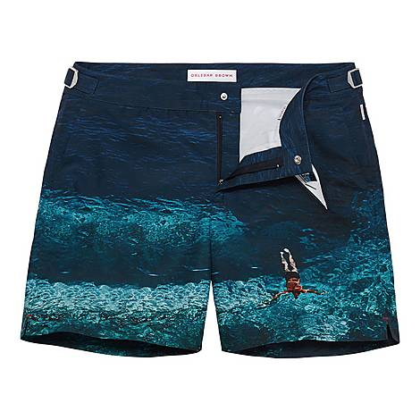 Bulldog Photo Swim Shorts, ${color}